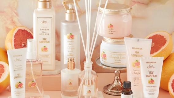 ピンクグレープフルーツの香りの商品が新発売。