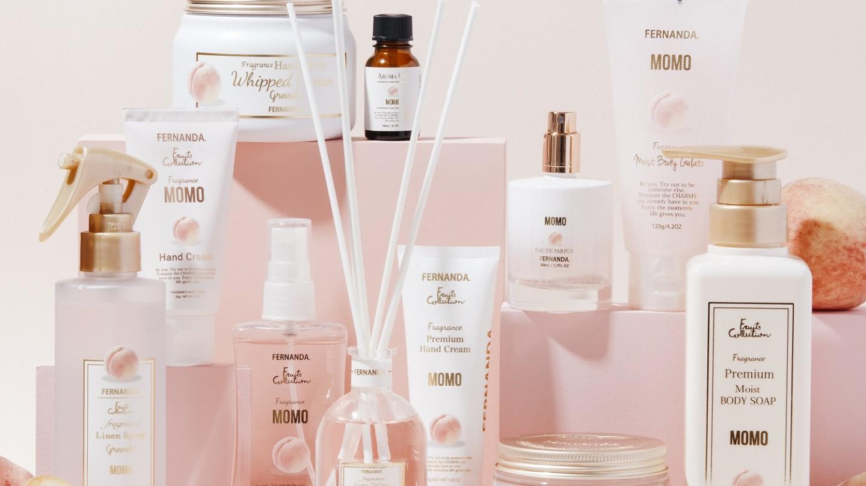 モモの香りの商品が新発売。